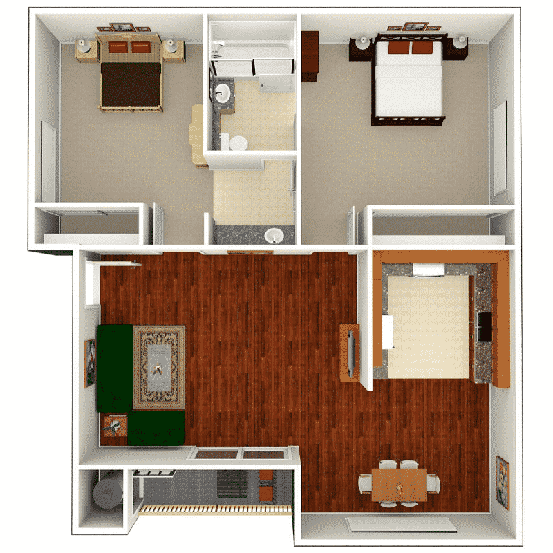 Highland Pinetree Apartment Homes | Floor Plans at Highland ...