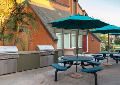 Outdoor BBQ kitchen & picnic areas